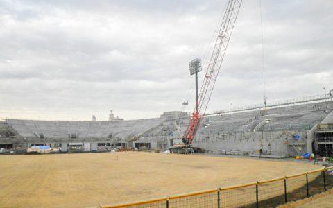 川口運動公園野球場 観覧席改築建築主体工事